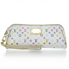 This is an absolutely authentic Louis Vuitton Kate Clutch from the  Multicolor line in White. 644fabb69d35d