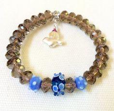 Genuine Smoky Quartz Bracelet Yoga Bracelet by HeidemarieMDesign