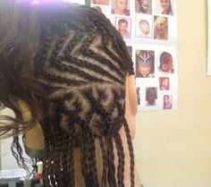 Pattern cornrow up do