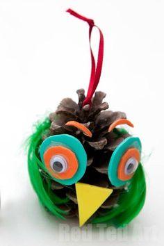Pine cone Owl Crafts