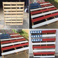 American flag pallet I made