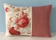 Waverly Norfolk Rose pillow cover. Shabby von sterlingstitchery