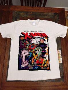 VTG-90s-1991-Uncanny-X-MEN-Bishop-marvel-comic-GILDAN-T-Shirt-REPRINT