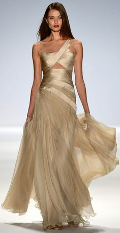 carlos miele spring summer 2013 ready-to-wear collection #mirabellabeauty #gold #gown