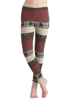 Deer Me Out Leggings in Berry, #ModCloth