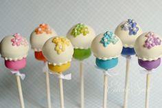 Rainbow cake pops Rainbow Cake Pops, Rib Recipes, Handmade Gifts, Desserts, Etsy, Food, Kid Craft Gifts, Tailgate Desserts, Deserts