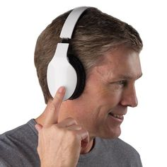 Try these headphones which you control with a finger swipe. #tech #gadget #music