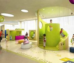 Bayt Abdullah Childrens Hospice, this hospice uses bright cheerful colours and easy cleanable surfaces.
