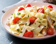pasta with chicken and tomatoes   #food #pasta