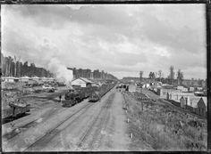 Ohakune Railway Station and railway yards.