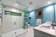 Never underestimate the power of bold colors and beautiful fixtures! #TeamJonathan                                                                                                                                                                                 More