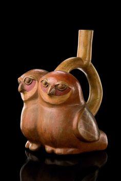 Owl Jug (pottery) Moche culture Perú
