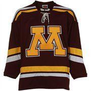 Minnesota Golden Gophers Maroon Tackle Twill Hockey Jersey