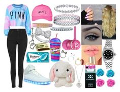 """""""Woes"""" by aaliyahsalmon ❤ liked on Polyvore featuring claire's, October's Very Own, Topshop, Moschino, Beats by Dr. Dre, Rolex, Finn, xO Design, Crislu and BERRICLE"""