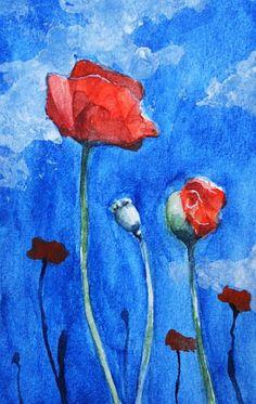 Poppies by H-Johanna.deviantart.com on @DeviantArt