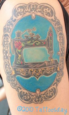 Sewing Machine Tattoo --- Tattoosday (A Tattoo Blog): Sew You Want a Cool Tattoo? Check This One out from Vicky...
