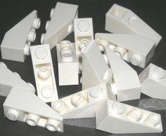 LEGO 20 White Slopes Inverted 33 Degree 3 x 1 9525 #LEGO