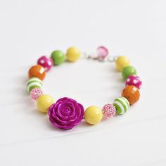 Beaded Necklace for Girls - Fairy Garden for 29.50 from The TomKat Studio Party Shop