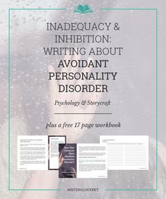 Writing Avoidant Personality Disorder