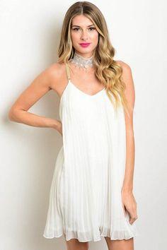 Pleated Mini Dress 3 Colors
