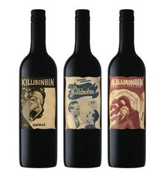 Killibinbin Wine #WineWednesday - Love the nostalgic horror film look, so different. You usually think wine = calm. They're tapping into a completely diff. market w/ this wine