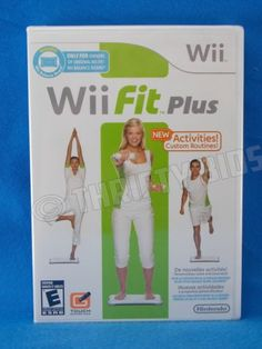 Wii-Fit-Plus-Nintendo-Wii-2009-Brand-New-Factory-Sealed-Game-Only-FreeShip
