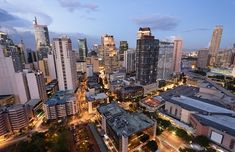 Picture of Eleveted, night view of Makati, the business district of Metro Manila. stock photo, images and stock photography. Philippines Cities, Philippines Vacation, Philippine Holidays, Global World, Union Bank, Makati, Thing 1, San Francisco Skyline, Travel Destinations