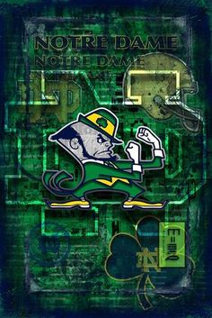 Notre Dame Poster, Notre Dame Fighting Irish Print, ND gift – McQDesign Notre Dame Football Stadium, Nd Football, Football Images, College Football, Football Quotes, Football Helmets, Football Tattoo, Irish Fans, Go Irish