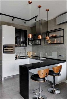 48 + Stunning Apartment Kitchen Decorating - Home By X The kitchen is an integral a part of any home. For most individuals, the kitchen is crucial part of the home. That is fairly comprehensible conserving in thoughts the utilitarian operate of the kitche Kitchen Room Design, Kitchen Sets, Modern Kitchen Design, Home Decor Kitchen, Interior Design Kitchen, Home Kitchens, Decorating Kitchen, Stylish Kitchen, Kitchen Trends