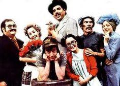 Sr Barriga, Dona Florinda, Prof Girafales, Chiquinha, Sr Madruga, Dona Clotilde (Bruxa do 71) e Chaves