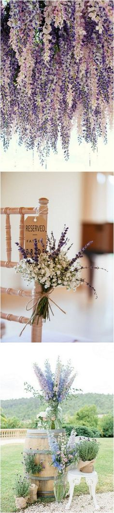 I like the baby's breath hanging on the aisle chairs.