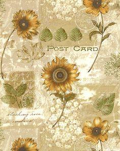 Sunflower Journal - Antique Post Cards - Lt Beige