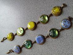 sampler button bracelets....Glass Czech