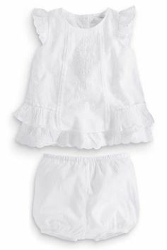 Buy White Woven Embellished Blouse And Shorts Two Piece Set (0-18mths) from the Next UK online shop