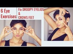 6 Eye Exercises: Tighten Droopy Eyelids and Reduce Wrinkles Around Eyes/ Blushwithme-Parmita Face Yoga Exercises, Sunken Eyes, Droopy Eyelids, Facial Yoga, Face Wrinkles, Eye Wrinkle, Face Massage, Belleza Natural, Beauty Routines