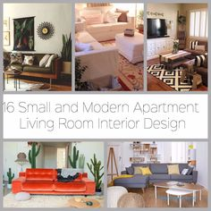 16 Small and Modern Apartment Living Room Interior Design