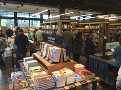 Inside Amazon's First Physical Bookstore - Opened on November 3, 2015 in Seattle, WA situated in an outdoor mall across the street from the University of Washington campus.