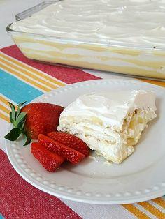 No Bake Saltine Cracker Cake with fruit