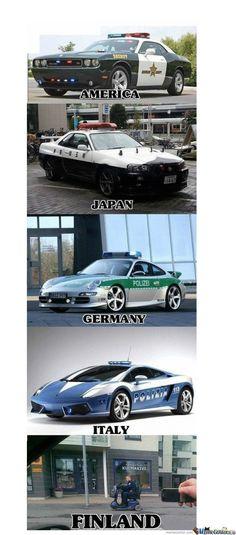Cops Meme | Slapcaption.com------do men just join the force to drive the cars, cuz it seems that way Car Dealer Marketing Done on Purpose #purposeadvertising