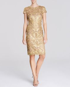 How to shine at any perty - Tadashi Shoji Dress - Cap Sleeve Lace | Bloomingdale's