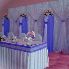 Two layers Tulle Wedding Backdrop Custom your size Tulle Wedding Hall Decorations, Quince Decorations, Wedding Reception Backdrop, Quinceanera Decorations, Tulle Wedding, Pipe And Drape Backdrop, Cake And Cupcake Stand, Vases Decor, Decorating Vases