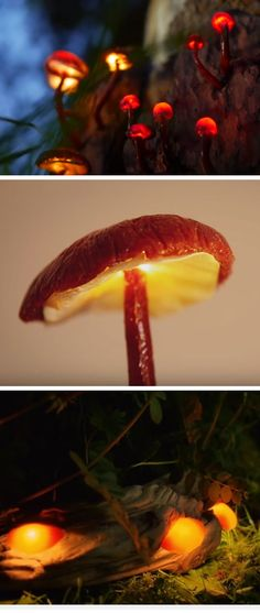 Magical Mushroom Lights | 20 DIY Garden Lighting Ideas that will make your outdoor space awesome!