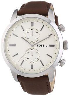 Fossil Herren-Armbanduhr XL Townsman Chronograph Quarz Leder