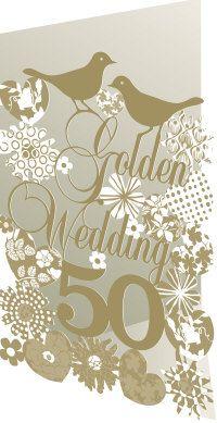 Roger la Borde | Golden Wedding Anniversary Lasercut Card
