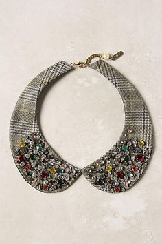 Ravenna Collar Seriously though.I like collars. Diy Jewelry, Jewelry Accessories, Fashion Accessories, Jewelry Necklaces, Jewelry Making, Bracelets, Crystal Jewelry, Silver Jewelry, Collar And Cuff