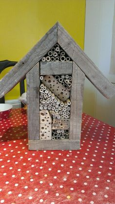 My first insect hotel!    You did a great job and it will help.  Don't forget  the plants that the insects needs.