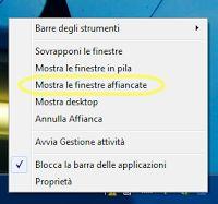 Come affiancare verticalmente due finestre con il mouse oppure con delle scorciatoie da tastiera. Si applica a Windows 7, Windows 8, Windows 10