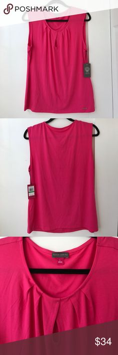 💕 Vince Camuto pink blouse NWT NWT Vince Camuto pink sleeveless blouse. Women's size large. Vince Camuto Tops Blouses