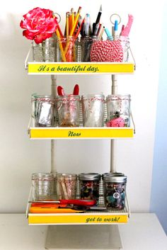 Organizing with jelly jars