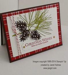 Jan Girl: Stampin' Up Ornamental Pine Christmas card